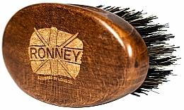Parfums et Produits cosmétiques Brosse à barbe en bois, à poils naturels, foncée - Ronney Professional Barber Small Brush