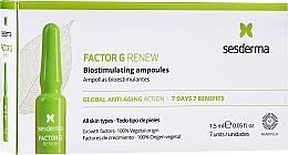 Parfums et Produits cosmétiques Ampoules anti-âge pour visage - SesDerma Laboratories Factor G Renew Biostimulating Ampoules Anti-Ageing Action