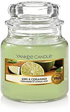 Parfums et Produits cosmétiques Bougie parfumée en jarre, Coriandre et Citron vert - Yankee Candle Lime & Coriander