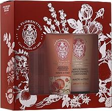 Parfums et Produits cosmétiques La Florentina Pomegranate - Kit de soins (spray corps/200ml + lotion corps/200ml + crème mains/75ml)