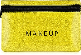 Parfums et Produits cosmétiques Trousse de toilette en silicone, Glitter Pouch, jaune, 18x11cm - MakeUp