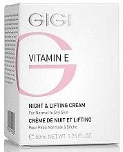 Parfums et Produits cosmétiques Crème de nuit liftante à la vitamine E - Gigi Vitamin E Night & Lifting Cream