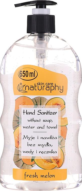 Gel désinfectant pour mains, Melon - Bluxcosmetics Naturaphy Alcohol Hand Sanitizer With Fresh Melon Fragrance