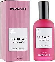 Parfums et Produits cosmétiques Lotion tonique régénérante et éclaircissante anti-rides pour visage - Thank You Farmer Miracle Age Tooner