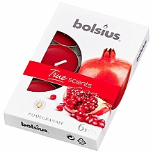 Parfums et Produits cosmétiques Bougies chauffe-plats parfumées Grenade - Bolsius Scented Tea Light Candles True Scents Pomegranate