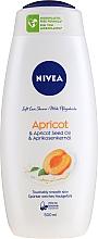 Parfums et Produits cosmétiques Gel douche crémeux au lait et abricot - Nivea Bath Care Cream Shower Apricot And Milk