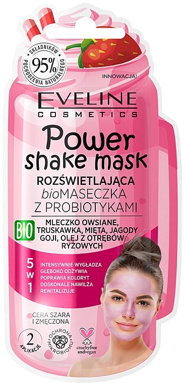 Masque probiotique bio au lait d'avoine pour visage - Eveline Cosmetics Power Shake Mask