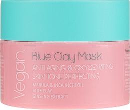 Parfums et Produits cosmétiques Masque anti-âge oxygénant et embellissant à l'argile bleue pour visage - Nacomi Blue Clay Mask Anti-Aging