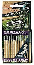 Parfums et Produits cosmétiques Kit brossettes interdentaires en bambou, 12pcs - Woobamboo Toothbrush Interdental Brush Picks Assorted