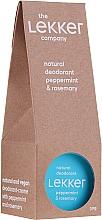 Parfums et Produits cosmétiques Déodorant crème naturel à l'huile de menthe et romarin - The Lekker Company Natural Deodorant