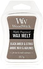 Parfums et Produits cosmétiques Cire parfumée pour lampe aromatique - WoodWick Wax Melt Black Amber & Citrus