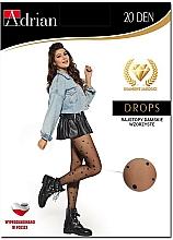 Parfums et Produits cosmétiques Collant pour femme, Drops, 20 Den, nero - Adrian