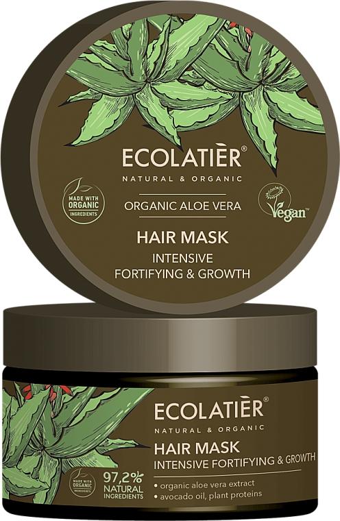 Masque bio à l'extrait d'aloe vera pour cheveux - Ecolatier Organic Aloe Vera Hair Mask