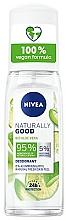 Parfums et Produits cosmétiques Déodorant à l'aloe vera bio - Nivea Naturally Good Deodorant Spray Bio Aloe Vera