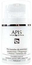Parfums et Produits cosmétiques Mélange d'acides pour exfoliation Lactobionique + pyruvique+lactique+azélaïque 40% - APIS Professional Lacticion + Pirogron + Milk + Azelaine 40%