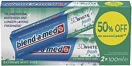 Parfums et Produits cosmétiques Lot de 2 dentifrices - Blend-a-med 3D White Fresh Extreme Mint Kiss