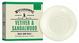 Parfums et Produits cosmétiques Savon à raser, Vétiver et Bois de santal - Scottish Fine Soaps Vetiver & Sandalwood Shaving Soap Refill