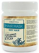 Parfums et Produits cosmétiques Masque à la noix de coco, huile de jojoba et lin pour cheveux - Hristina Cosmetics Hair Mask