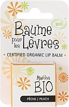 Parfums et Produits cosmétiques Baume à lèvres naturel Pêche - Marilou Bio Certified Organic Lip Balm Peach