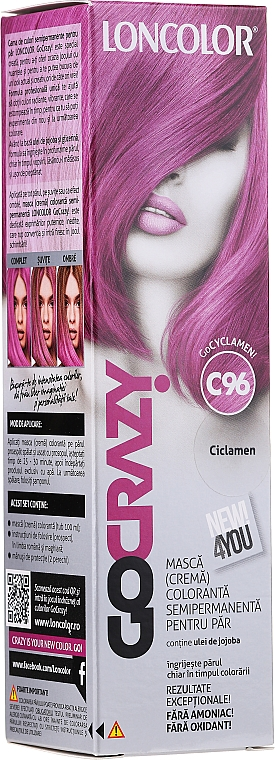 Coloration-masque semi-permanente pour cheveux - Loncolor GoCRAZY!