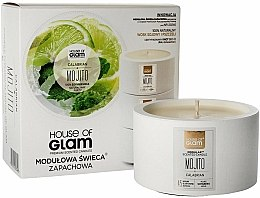 Parfums et Produits cosmétiques Bougie parfumée de soja et cire d'abeille - House of Glam Calabrian Mojito Candle