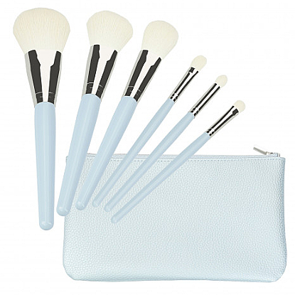 Kit pinceaux de maquillage, blanc - Tools For Beauty Set Of 6 Make-Up Brushes
