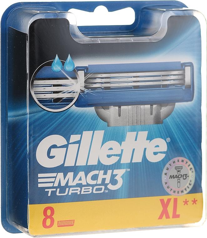 Lames de rechange pour rasoir, 8 pcs - Gillette Mach3 Turbo