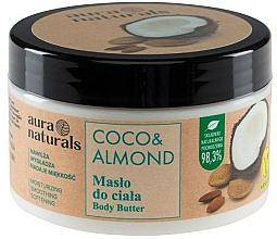 Parfums et Produits cosmétiques Beurre pour corps, Noix de coco et Amande - Aura Naturals Coco & Almond Body Butter