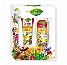 Parfums et Produits cosmétiques Bione Cosmetics Argan Oil - Lot (baume pour mains/200 ml + lotion pour corps/500 ml)