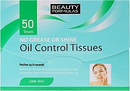 Parfums et Produits cosmétiques Papier absorbant pour visage - Beauty Formulas Oil Control Tissues