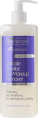 Gel micellaire avec D-Panthénol et huile d'avocat - Bielenda Professional Microbiome Pro Care Delicate Micelar Gel Makeup Remover