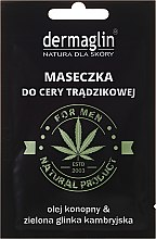 Parfums et Produits cosmétiques Masque anti-acné à l'huile de chanvre et argile bleue cambrienne - Dermaglin For Men Natural Product