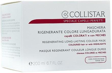 Masque régénérant pour cheveux - Collistar Regenerating Long Lasting Colour Mask — Photo N2