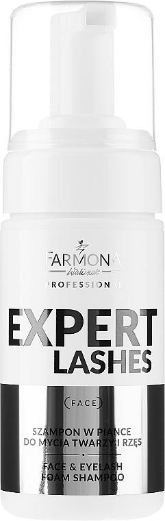 Shampooing moussant pour visage et cils - Farmona Professional Expert Lashes Face&Eyelash Foam Shampoo — Photo N1