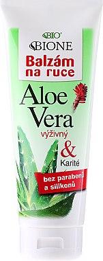 Baume à l'aloès et karité pour mains - Bione Cosmetics Aloe Vera Nourishing Hand Ointment With Collagen