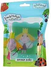 Parfums et Produits cosmétiques Éponge de bain pour enfants, Ben et Holly, Holly, bleu-vert - Suavipiel Ben & Holly Bath Sponge