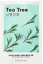 Parfums et Produits cosmétiques Masque en tissu purifiant et rafraîchissant à l'extrait d'arbre à thé - Missha Airy Fit Tea Tree Sheet Mask