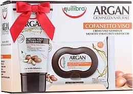 Parfums et Produits cosmétiques Equilibra Argan - Coffret (crème pour visage/75ml + lingettes démaquillantes/25pcs)