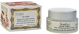 Parfums et Produits cosmétiques Crème de jour au lait d'ânesse bio - Sostar Skin Whitening Day Cream SPF15 Enriched With Bio Donkey Milk