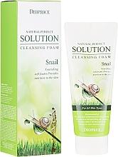 Parfums et Produits cosmétiques Mousse nettoyante à l'extrait de bave d'escargot pour visage - Deoproce Natural Perfect Solution Cleansing Foam Snail