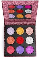 Parfums et Produits cosmétiques Palette maquillage yeux - Makeup Revolution Pressed Glitter Palette Diva
