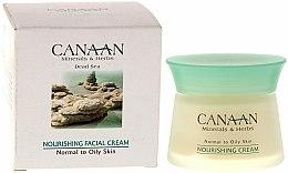 Parfums et Produits cosmétiques Crème aux minéraux de la mer Morte pour visage - Canaan Minerals & Herbs Nourishing Facial Cream Normal to Oily Skin
