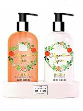 Parfums et Produits cosmétiques Scottish Fine Soaps Spiced Clementine Spice - Set (savon liquide/300ml + lotion pour mains/300ml)