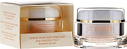 Parfums et Produits cosmétiques Crème-masque à l'argile rose et fruit de la passion pour visage - Ligne St Barth Cream Mask With Pink Clay And Passion Fruit