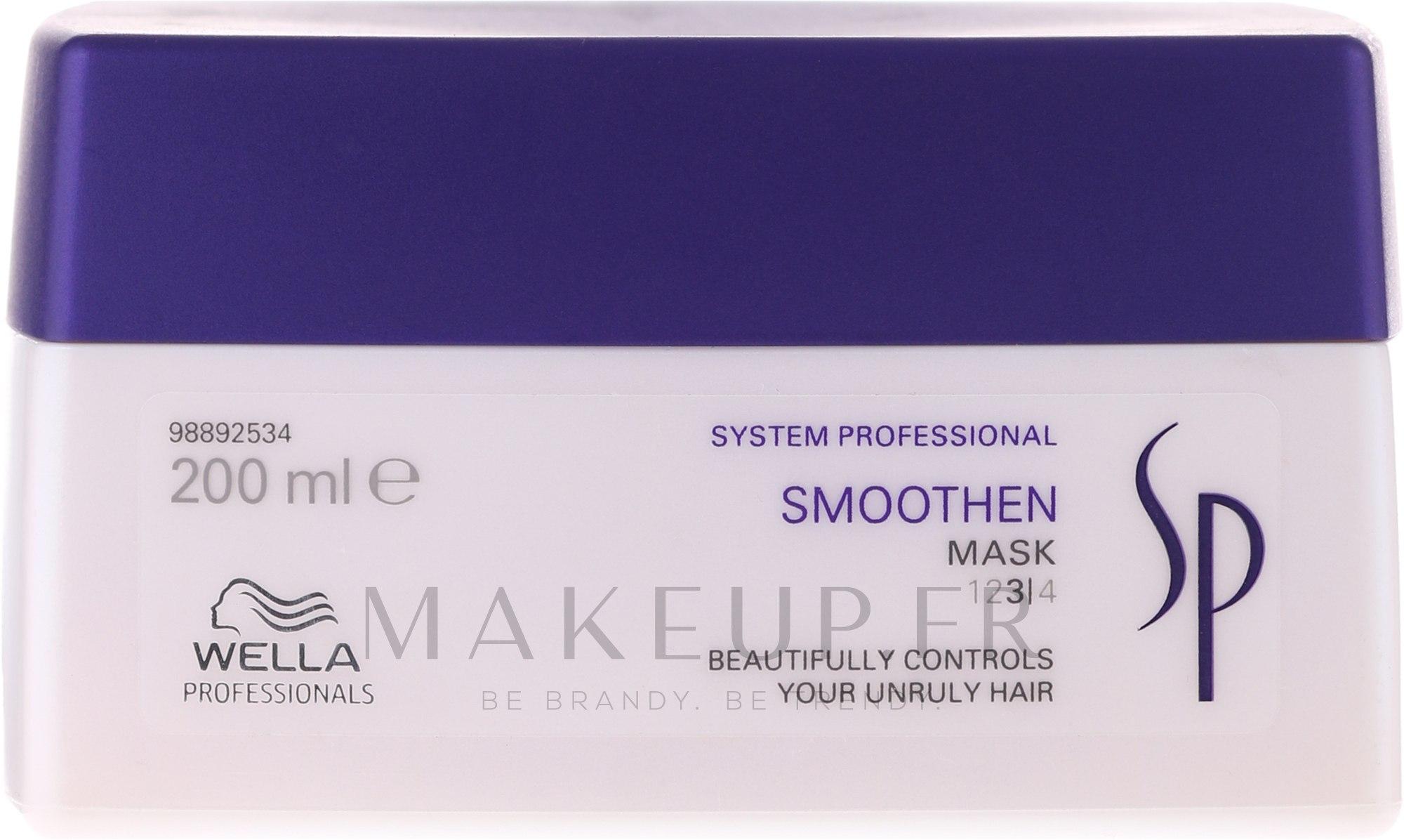 Masque lissant pour cheveux - Wella SP Smoothen Mask — Photo 200 ml