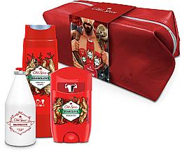 Parfums et Produits cosmétiques Coffret cadeau - Old Spice Bearglove Travel (deo/50g + sh/gel/250ml + ash/lot/100ml + bag)