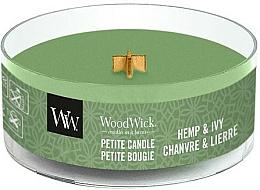 Parfums et Produits cosmétiques Bougie parfumée avec mèche en bois, Chanvre et Lierre - WoodWick Petite Candle Hemp And Ivy