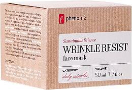 Parfums et Produits cosmétiques Masque à la rhodiola rosea et ginseng pour visage - Phenome Wrinkle Resist Face Mask