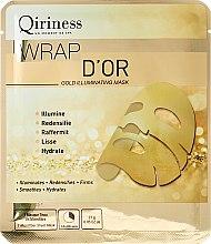Parfums et Produits cosmétiques Masque tissu en microfibre or 24 carats pour visage - Qiriness Gold Illuminating Mask