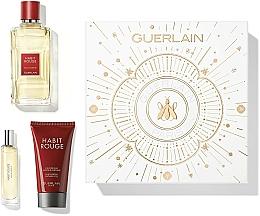 Parfums et Produits cosmétiques Guerlain Habit Rouge - Coffret (eau de toilette/100ml + gel douche/75ml + eau de toilette/10ml)